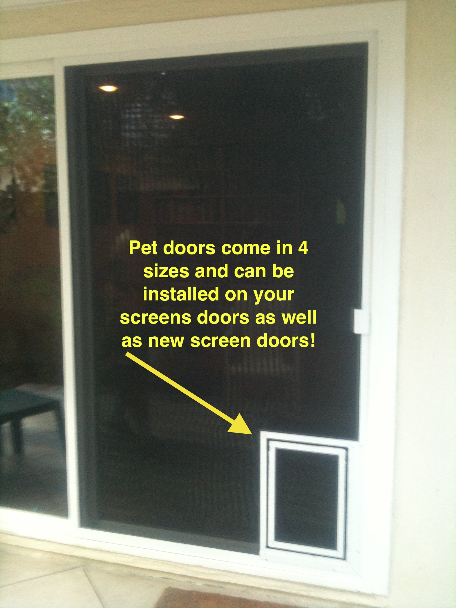 Pet Doors Installed ...