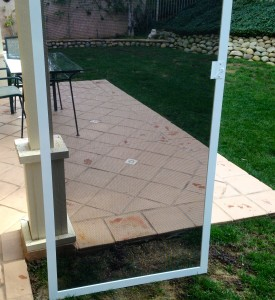 8' white screen doors job in simi valley