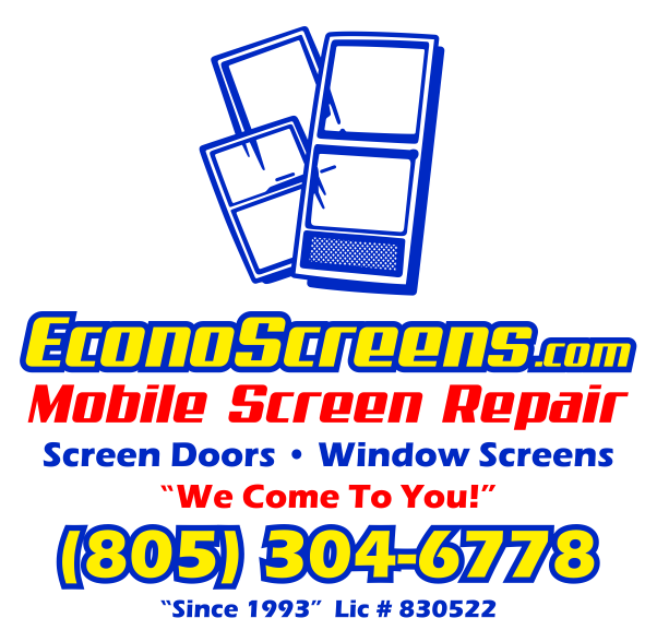 Screen Door and Window Screen Repair and Replacement Simi Valley, Thousand Oaks and Surrounding Areas.